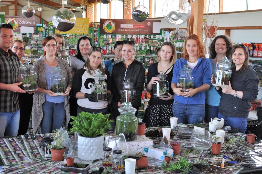 Warsztaty Ogrody w szkle w Zielonym Zakątku - Zielony Słoik