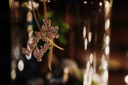 """ozdoba """"wesołych świąt"""" do ogrodu w szkle"""