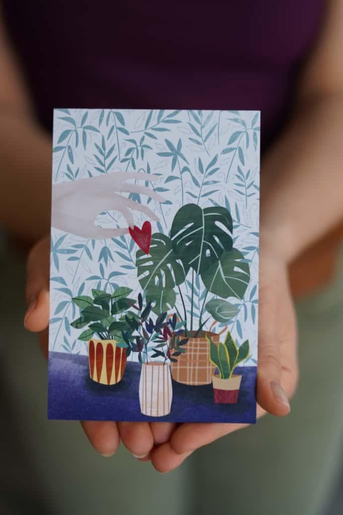 kartka prezentowa do zestawu zrób to sam las w słoiku