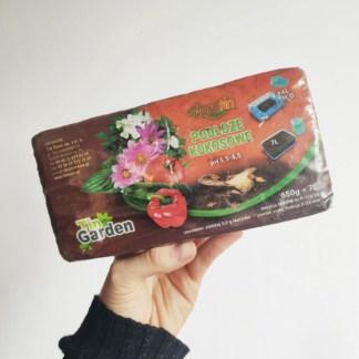 włókno kokosowe / podłoże kokosowe brykiet zielony słoik