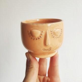 osłonka ceramiczna buźka brzoskwiniowa 6 cm Zielony Słoik